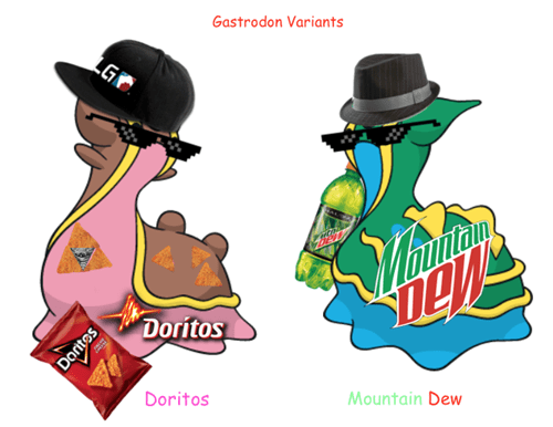 Dank meme of gastrodon variations
