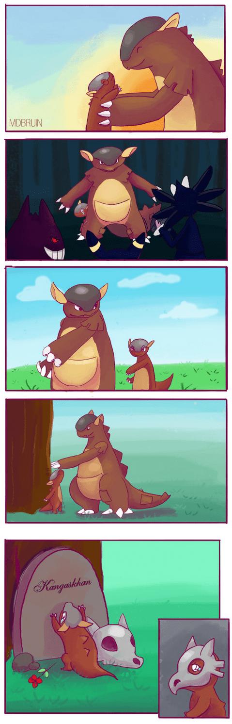 pokemon memes kangaskhan cubone comic