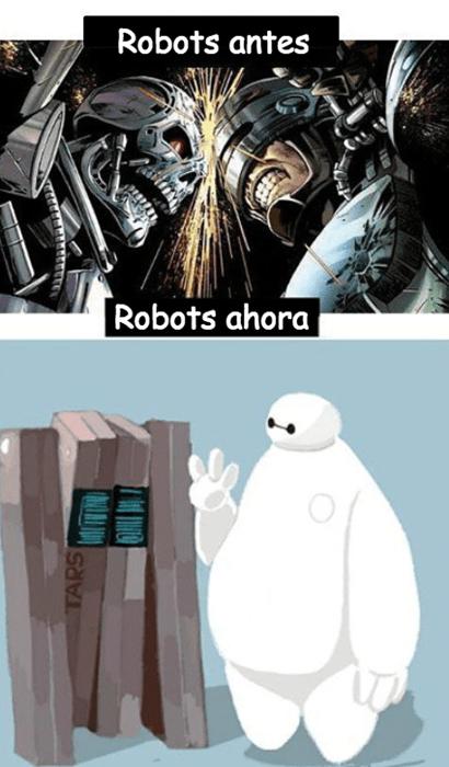 robots en tiempo