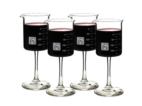 awesome glasses periodic table wine science - 8479345664