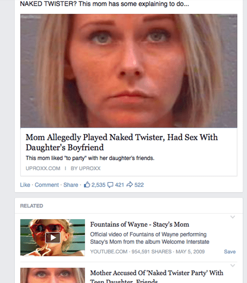 Theres Nothing Funny About This Story Except Facebooks Suggestion