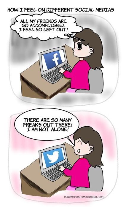 funny-web-comics-how-i-feel-on-different-social-medias