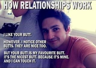 relationships are about butts