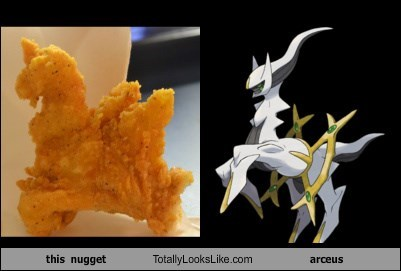 chicken nugget,totally looks like,arceus