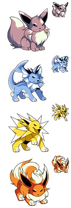 pokemon memes eeveelution sprite fan art