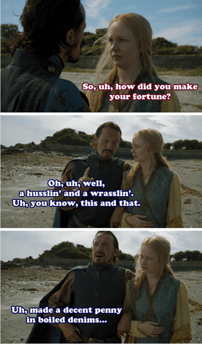 Game of thrones memes season 5 bronn makes his fortune.