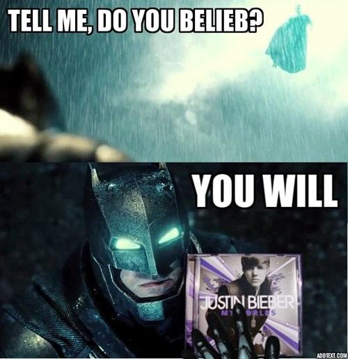 jokes Batman v Superman justin bieber - 8481163264