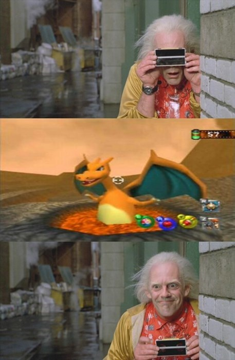 pokemon memes back to the future snap