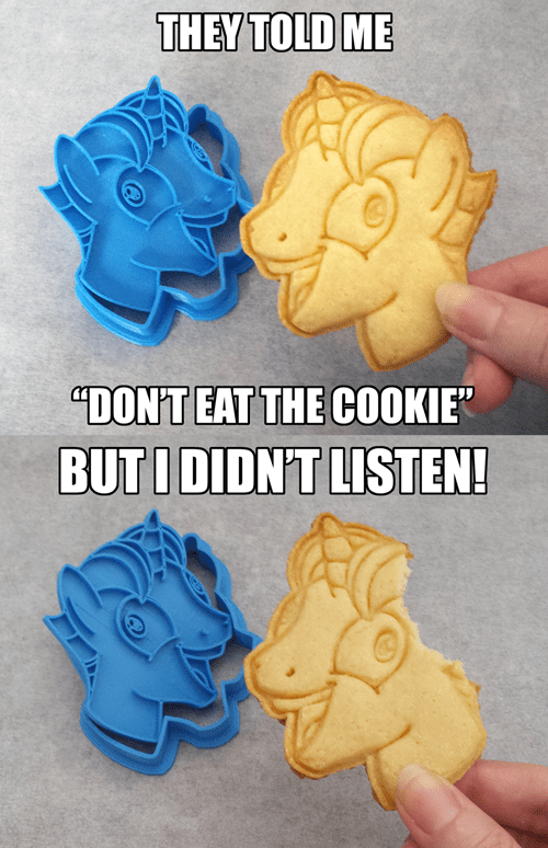 party favor Cookie Cutter i didn't listen - 8481345024