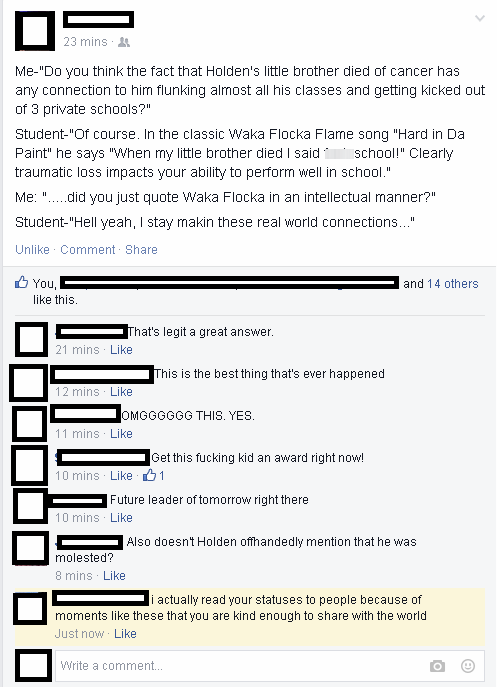 literature school reading Waka Flocka Flame failbook - 8481546752