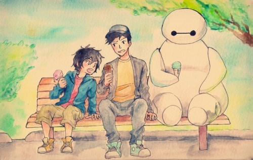 disney memes baymax ice cream fan art
