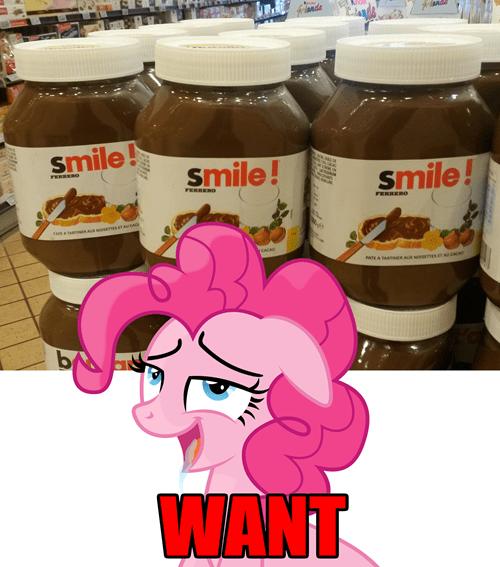 pinkie pie,nutella,smile smile smile
