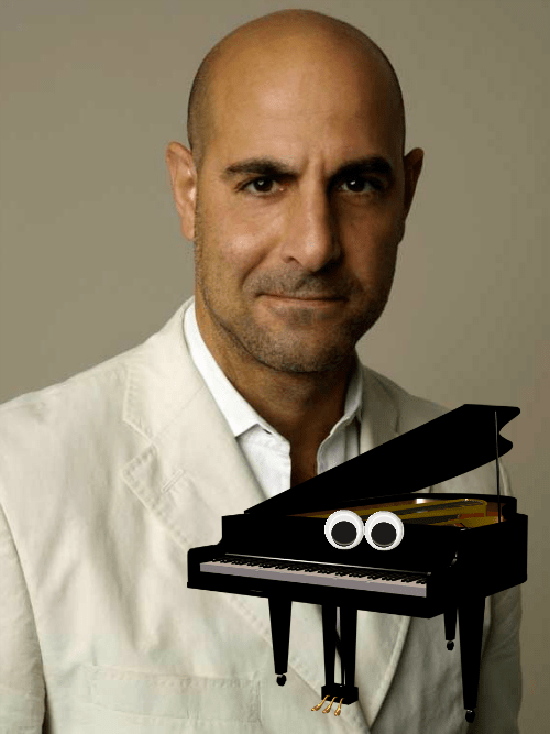 geek memes news stanley tucci piano beauty and the beast