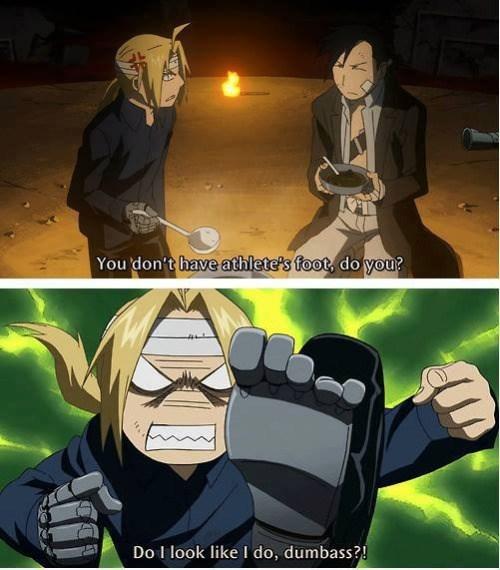 anime memes fullmetal alchemist athletes foot