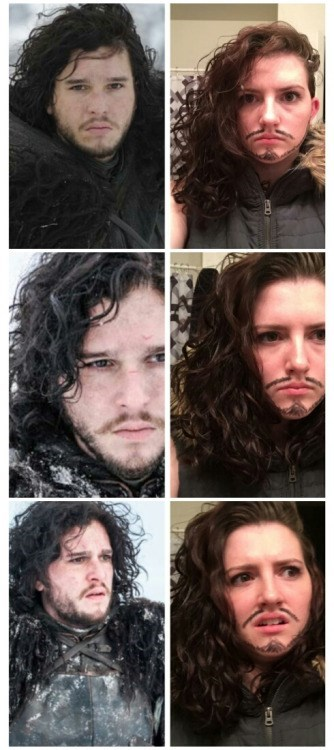 Game of thrones memes this fan just nails the Jon Snow impression.