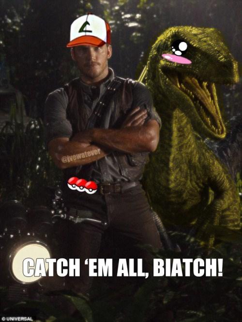 pokemon memes chris pratt jurassic world pokemon