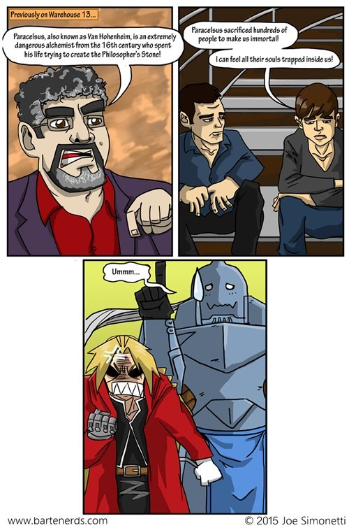 anime,fullmetal alchemist,warehouse 13,web comics