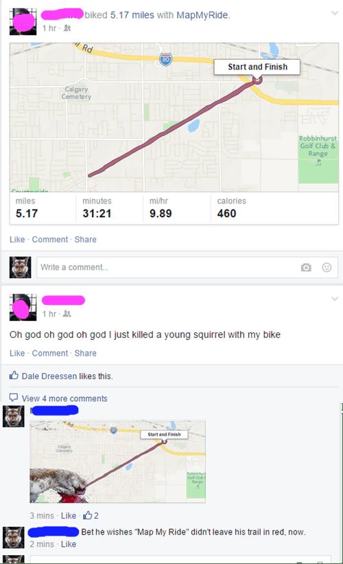 whoops squirrel oh god why bike - 8482802432