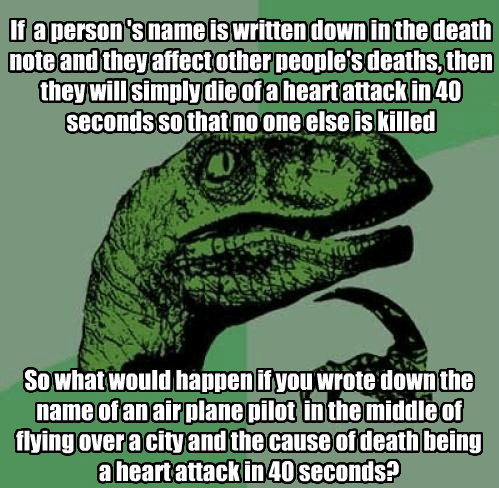 philosoraptor death note - 8482978560