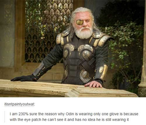gloves odin superheroes