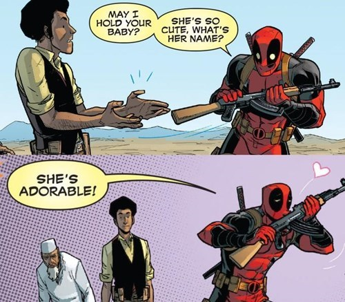 guns,deadpool,Straight off the Page,squee