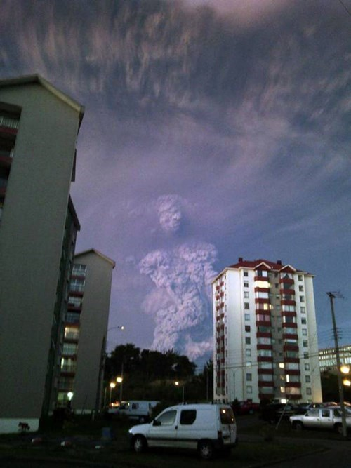 Chile's Gigantic Volcanic Activity Makes a Cloudy Figure in the Sky