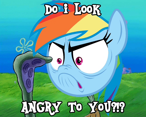 SpongeBob SquarePants angry rainbow dash - 8483592448