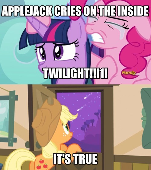 applejack,cry,manly tears