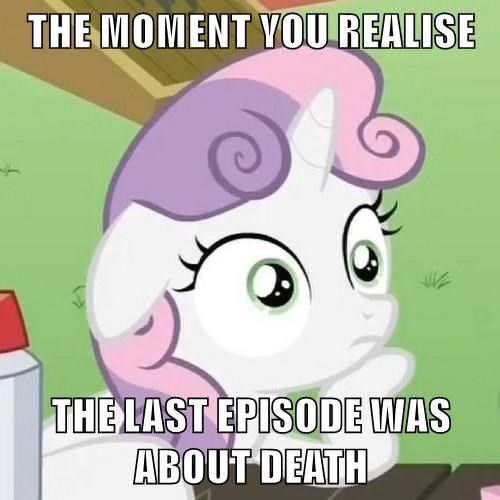 sudden realization sweetie belle,tank,metaphor,grief