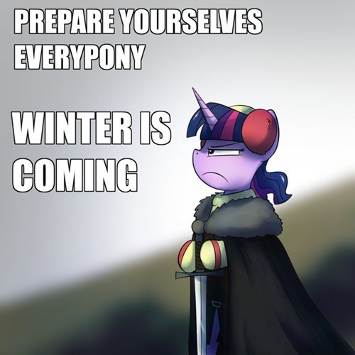 Winter Is Coming twilight sparkle - 8483688960