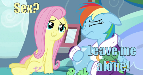 that looks naughty fluttershy rainbow dash - 8483689984