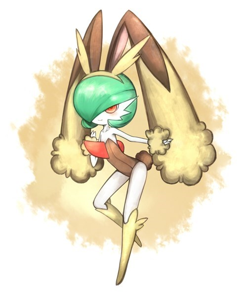 lopunny,Fan Art,gardevoir
