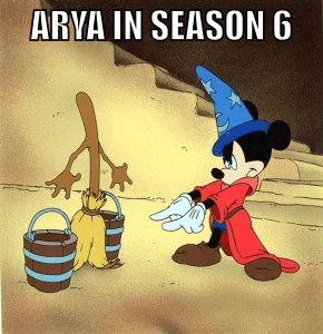Game of thrones memes season 5 arya is a sorceror's apprentice