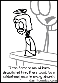 jesus,bobble heads,sad but true,web comics