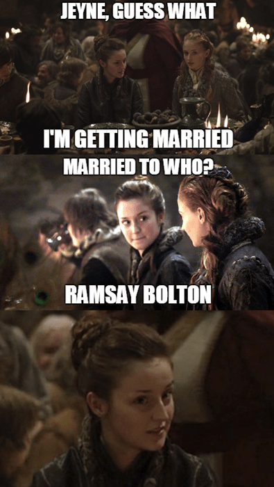 Game of thrones memes season 5 calm down sansa.