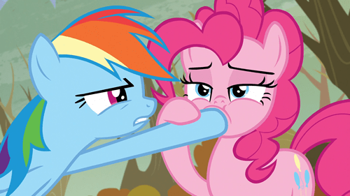 that looks naughty pinkie pie rainbow dash - 8484391936