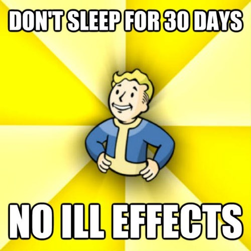Cartoon - DONT SLEEP FOR 30 DAYS NO ILL EFFECTS