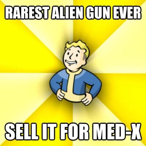Cartoon - RARESTALIEN GUN EVER SELL IT FOR MED-X