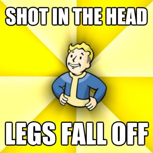 Cartoon - SHOT IN THE HEAD LEGS FALL OFF