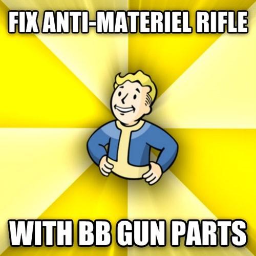 Cartoon - FIXANTI-MATERIEL RIFLE WITH BB GUN PARTS