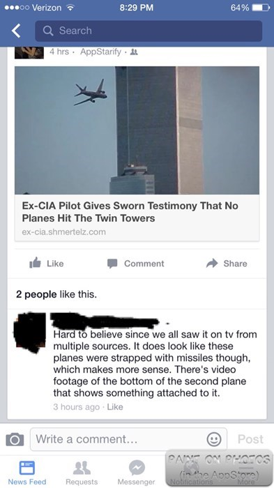 funny-facebook-fail-conspiracy-plane-missile-911