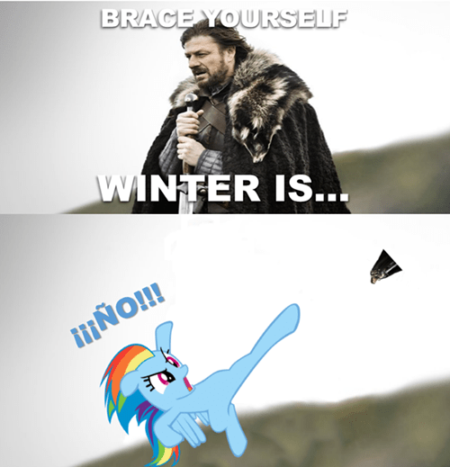 old memes,Winter Is Coming,Game of Thrones,brony,rainbow dash