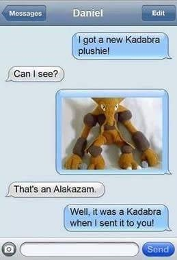 pokemon memes kadabra alakazam trade text