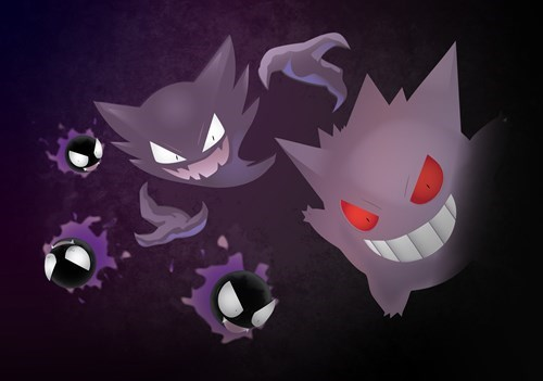 Pokémon,Fan Art,gengar,haunter,ghastly
