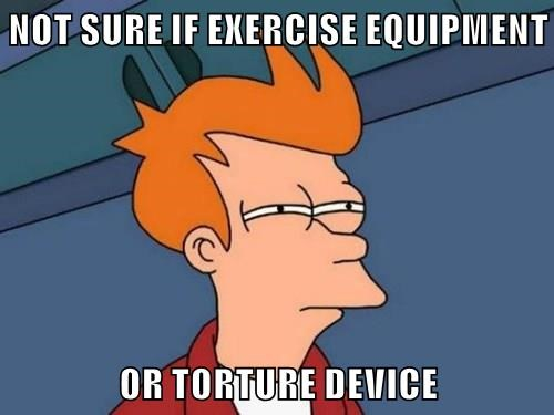 memes Futurama Fry exercise torture - 8486120192