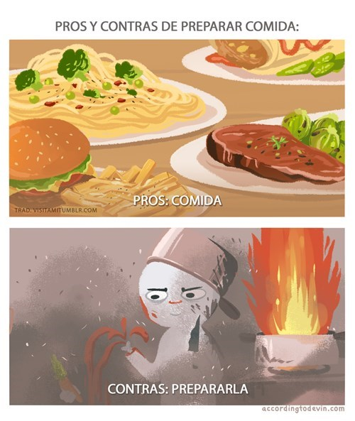 preparar comida