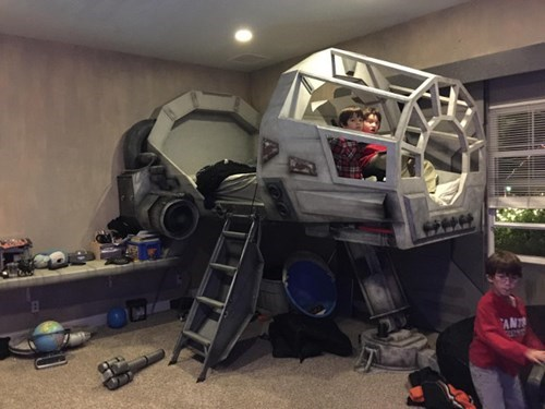 epic-win-pic-parenting-dad-millennium-falcon-bed