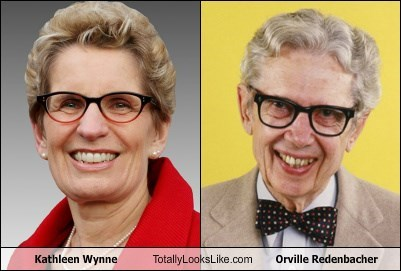 Kathleen Wynne Totally Looks Like Orville Redenbacher