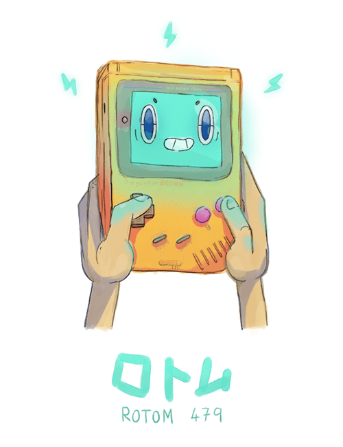 pokemon memes rotom gameboy fan art