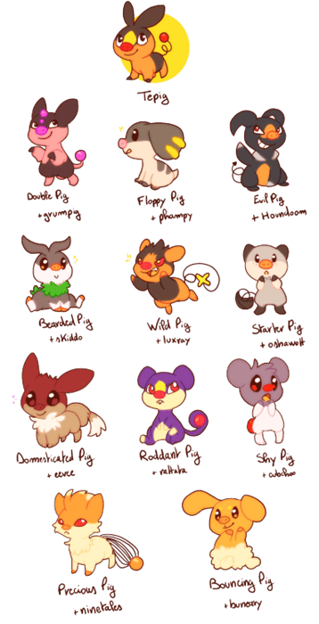 pokemon memes tepig breeding variations